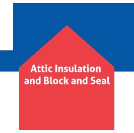 Attic Insulation and Block & Seal